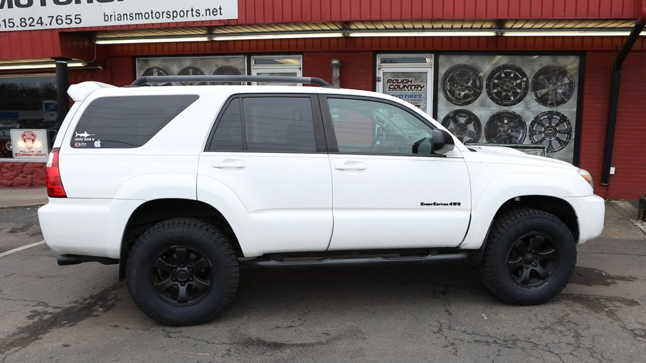 2006 4runner Lift Amp Tire Upgrade Before Amp After Youtube