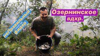 Рыбалка на водохранилище. Озернинское водохранилище.Ловля фидером на водохранилище.