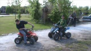 Tire burning contest with the quads
