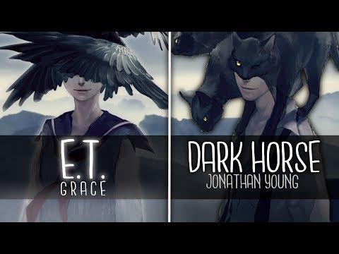 ◤Nightcore◢ ↬ Dark Horse ✗ E.T. [Switching Vocals | MASHUP]
