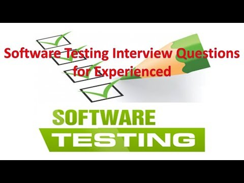 Software Testing Interview Questions For Experienced|G C Reddy|