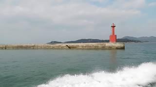 【瀬戸内海笠岡諸島】北木島から出港して赤い灯台を撮っただけの動画 thumbnail