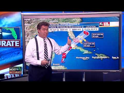 Potential Tropical Cyclone 18 Forecast with Denis Phillips on Friday, October 27, 2017 (5PM)