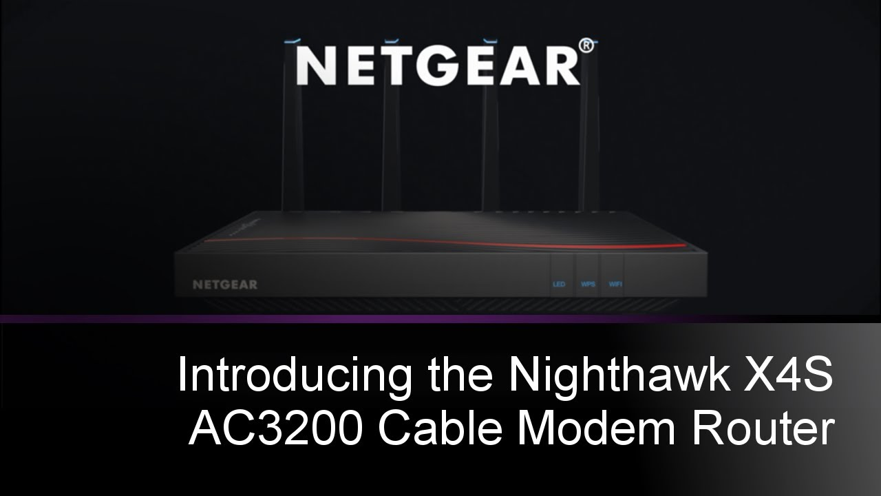 Netgear Nighthawk X4s Wifi Cable Modem Router C7800
