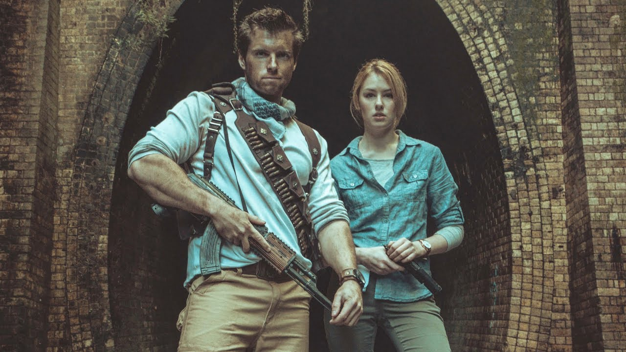 Uncharted 3 Nathan Drake Elena Fischer Cosplay Photoshoot