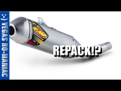 How to Crack open and REPACK a FMF powercore 4 Dirtbike Exhaust