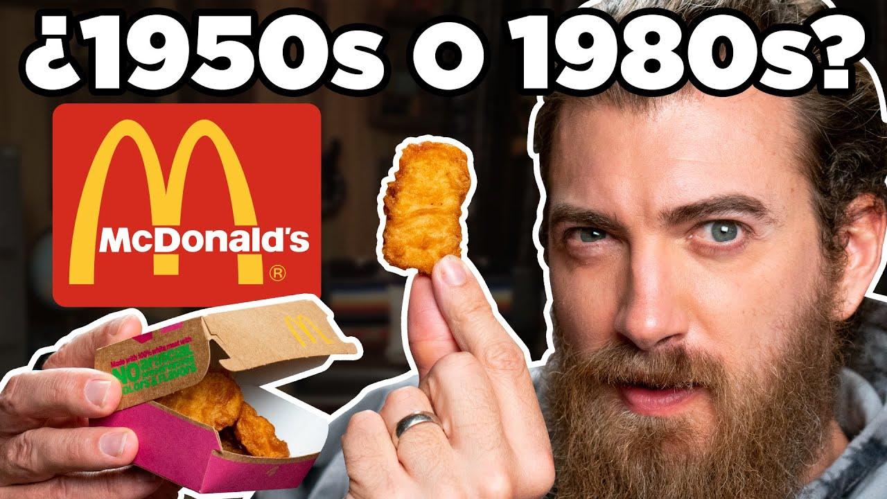 Degustacion de los cien años de McDonald's