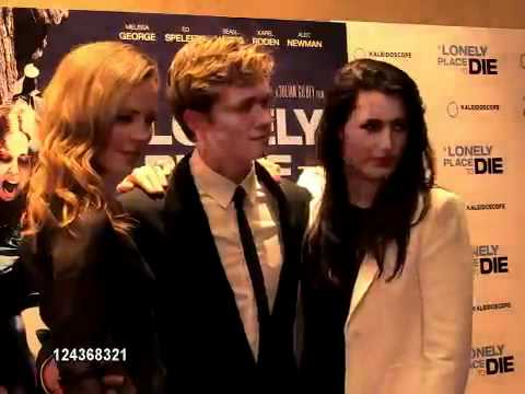 Melissa George, Ed Speleers and Kate McGowan posing at the