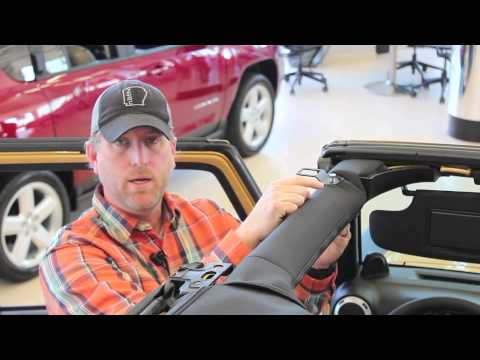 how to install a bikini top on your jeep wrangler steve landers chrysler dodge jeep youtube. Black Bedroom Furniture Sets. Home Design Ideas