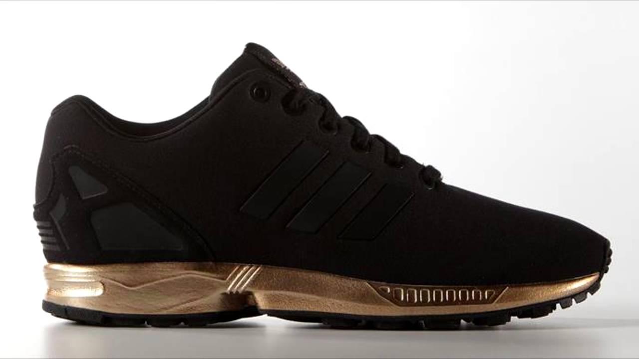 adidas zx flux damskie czarne złote
