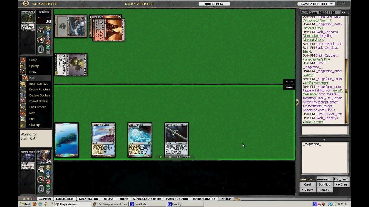 MTGO PTQ Final Game Megafone Vs Black Cat