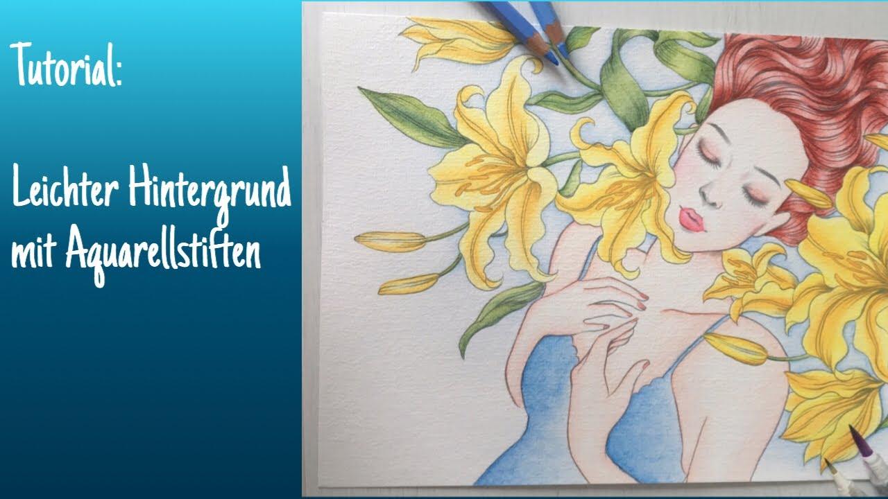 Prima Princesses Hintergrund Mit Aquarellstiften Albrecht