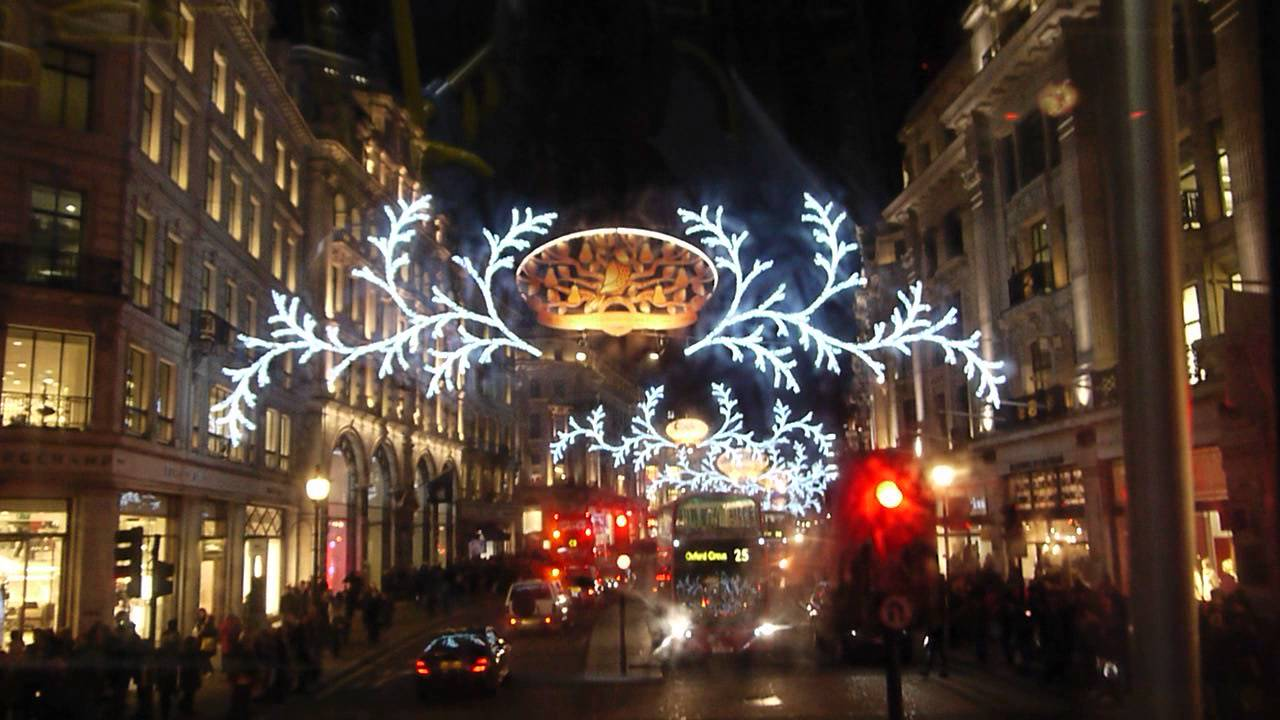 Regent Street Christmas Decorations 2013 - 7 12 2013 - YouTube