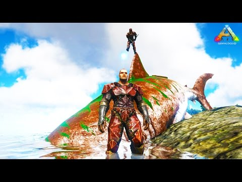 HikePlays ARK Survival - OCEAN BASE Build!! - The Dino Hunte