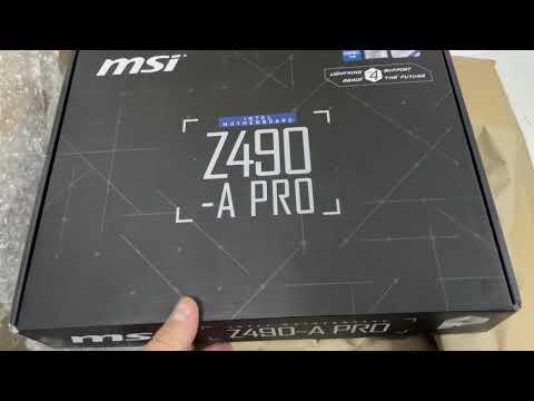 Материнська плата MSI Z490-A Pro (s1200, Intel Z490, PCI-Ex16)
