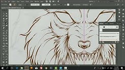 Line Art Vector Animal Wolf | Adobe Illustrator Tutorial | Tips & Trick
