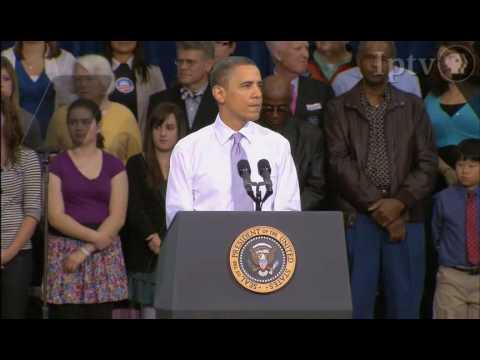 President Barack Obama's Health Care Speech in Iowa City