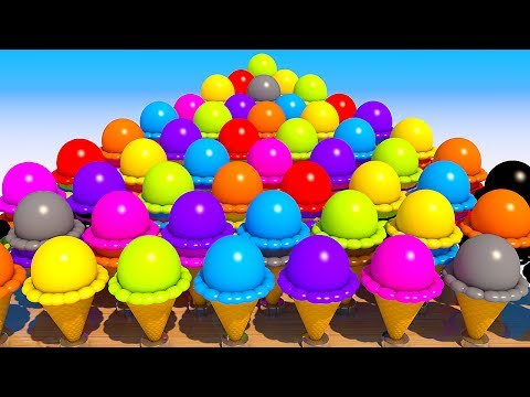 Thumbnail: Teach Numbers with 3D Ice Cream for Kids and Children