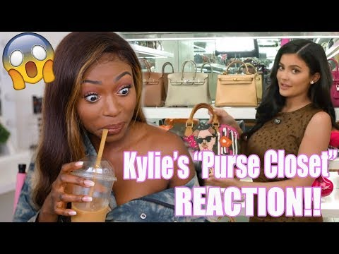 REACTING TO KYLIE'S $1,000,000  PURSE CLOSET  TOUR!