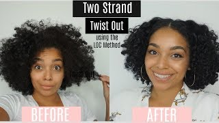 Two Strand Twist Out using The LOC Method | Ft. Alikay Naturals