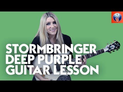 Stormbringer Deep Purple Guitar Lesson - Learn ...