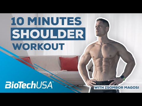 Best Exercises To Build Muscle – 10 Min Shoulders (NO GYM NEEDED)
