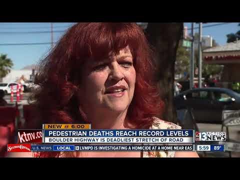 Clark County Pedestrian Deaths Reach Record High, again