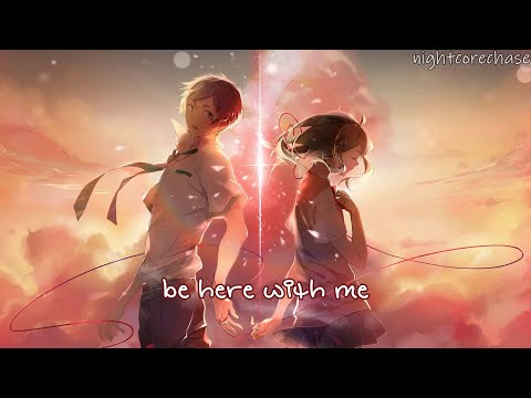 Nightcore - Here With Me - Elina (Lyrics)