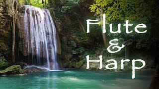 Spiritual Awakening Music: Relaxing Flute & Harp + Tropic Waterfall
