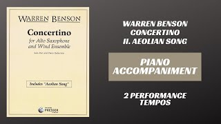 Warren Benson – Aeolian Song (Piano Accompaniment)