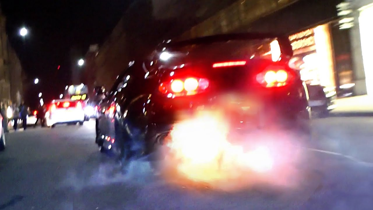 MAD Toyota Supra   Burnouts And Flames In London!   YouTube