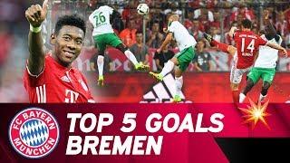 Top 5 FC Bayern Goals vs Werder Bremen