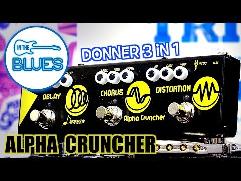 Donner Alpha Cruncher 3 in 1 Effects Pedal