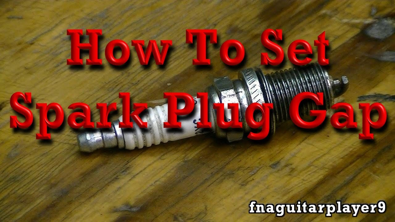 how to set spark plug gap in any engine  [ 1280 x 720 Pixel ]