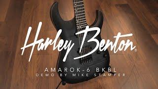 Harley Benton Amarok-6 BKBL guitar DEMO by Mike Stamper