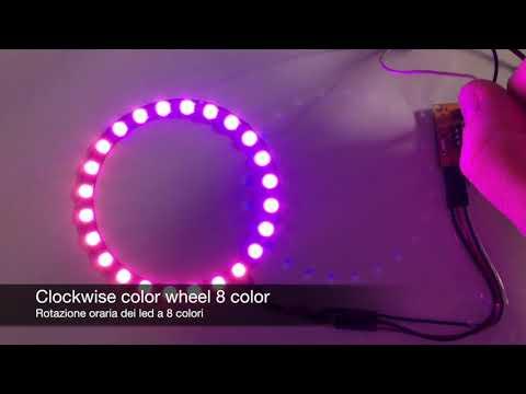 Rotary encoder attiny85 neopixel color wheel