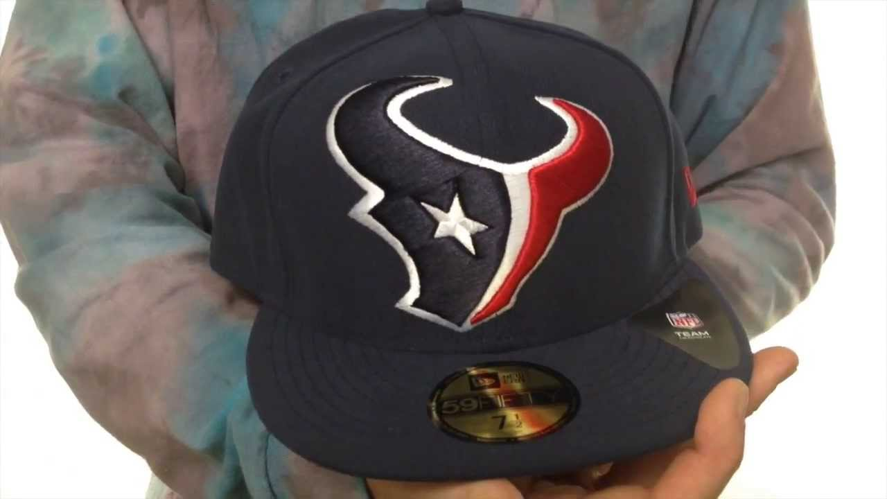 df16edc66bc Texans  NFL MIGHTY-XL  Navy Fitted Hat by New Era - YouTube