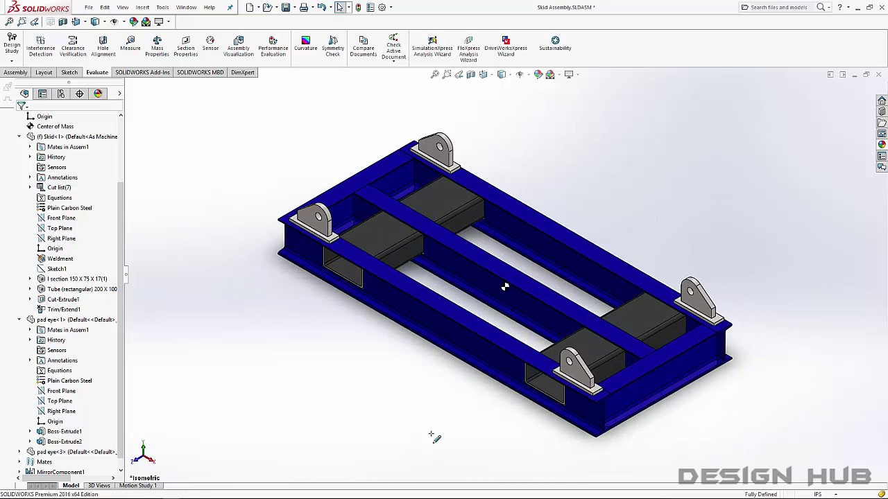 Structural Skid Design using Solidwork Weldment and Drafting-part-1