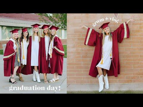 I graduated high school! (GRWM + VLOG)