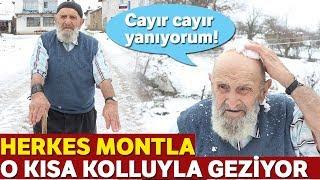Herkes Montla Gezerken 91 Yaşındaki Adam Kısa Kolluyla Geziyor