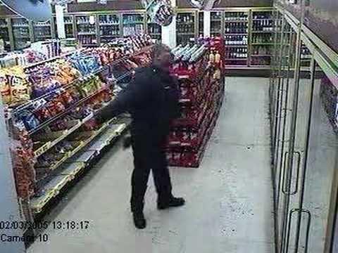 Dancing Security Guard At The Food Mart