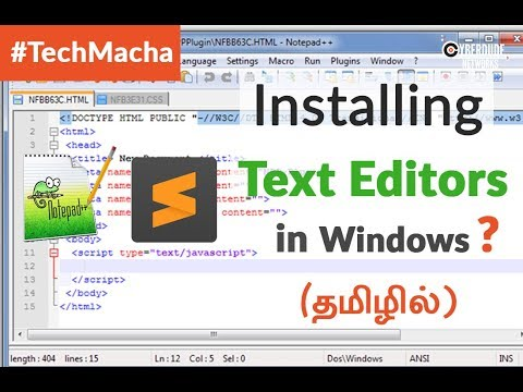 HTML5, CSS, JS - Installing Text Editors In Windows OS - (Tamil)(Tutorial)