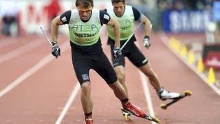 Petter Northug og Marcus Hellner i Bislett Games 2011