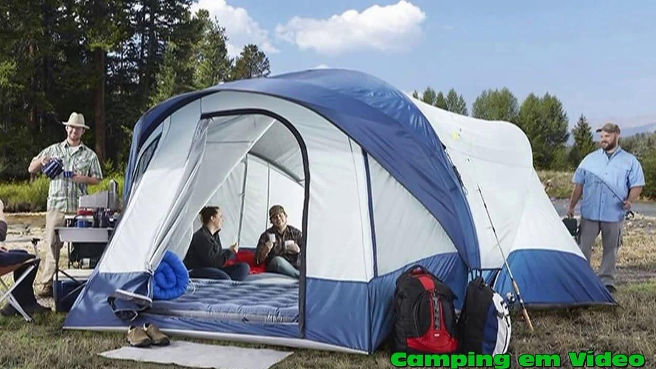 & Ridgeway by Kelty Skyliner 14 Person Cabin Tent - YouTube