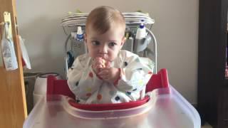 blw baby led weaning introduccin pollo pone caras muy graciosas