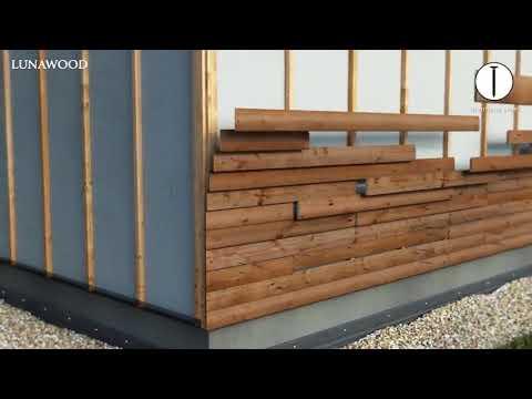 Instalaci n de fachada horizontal exterior con madera - Madera para paredes ...