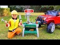 Unboxing and Assembling Tools set for Kids Paw Patrol repair Jeep Ride On POWER WHEEL