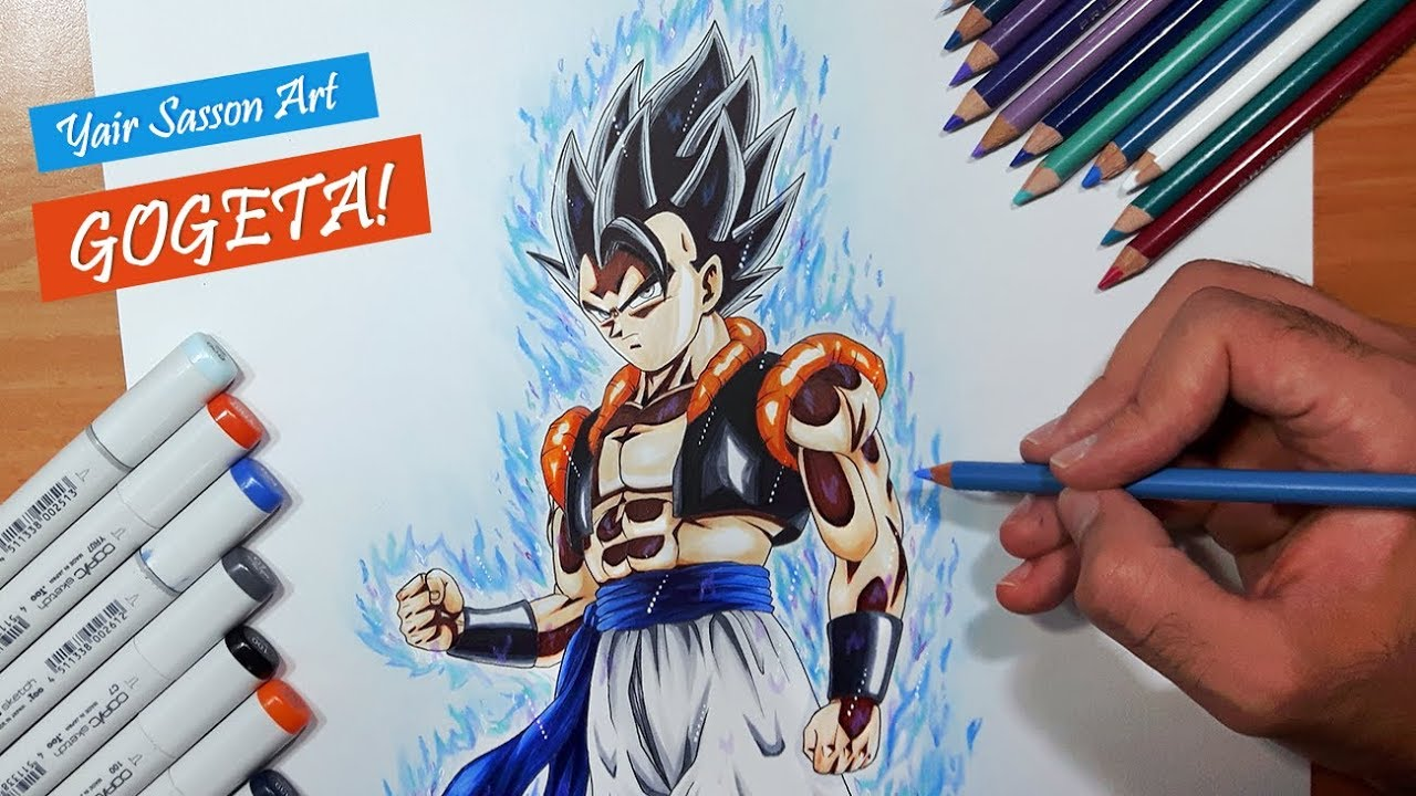 Drawing Gogeta Ultra Instinct Dragon Ball Super