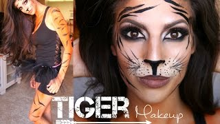 Tiger Makeup Tutorial + Outfit | Halloween 2014
