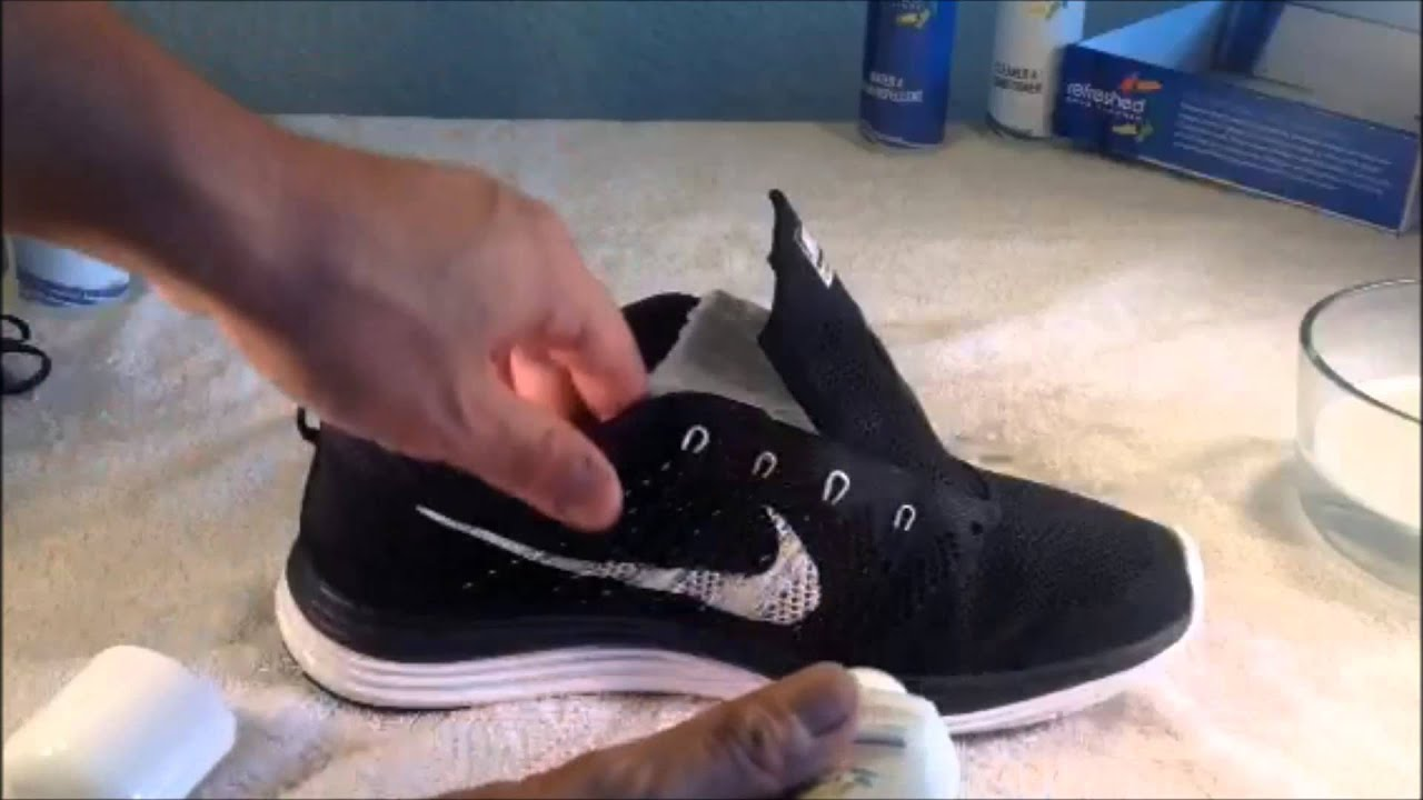 How to clean Nike FlyKnit Lunar 1's - VLOG #1 University of Shoe Cleaning -  YouTube